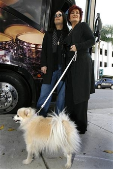 Ozzy and Sharon Osbourne plan the afterlife.