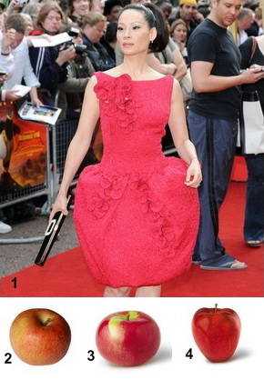 Lucy Liu, red delicious