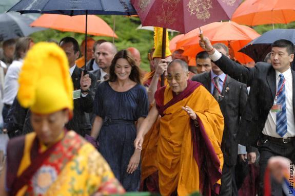 The 14th Dalai Lama and Carla Bruni-Sarkozy