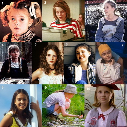 Natalie Portman 7. Christina Ricci 8. Jessica Alba 9. Anna Paquin