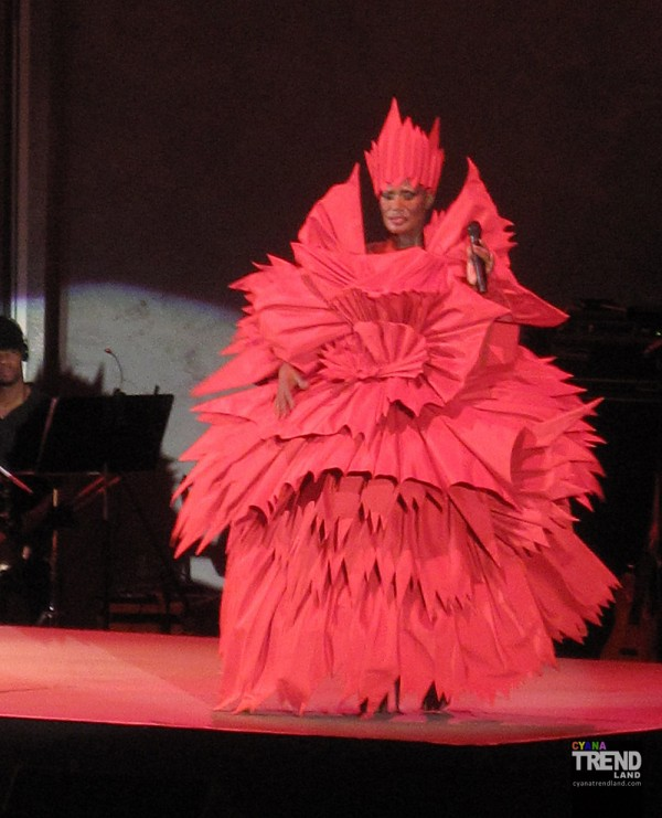 Grace Jones origami dress