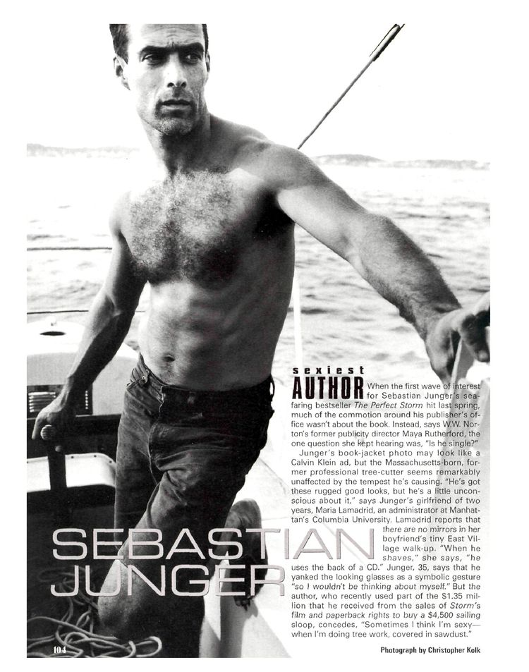 Sebastian Junger has a big spear
