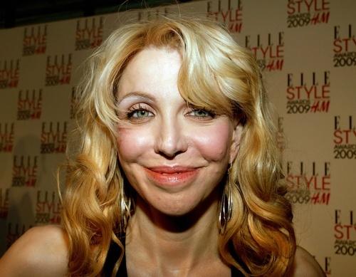 Courtney Love smiles