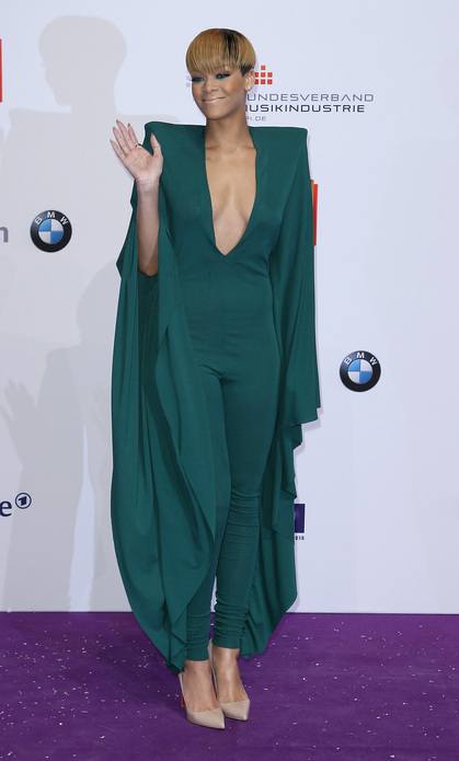 Rihanna Batwinged jumpsuit of death