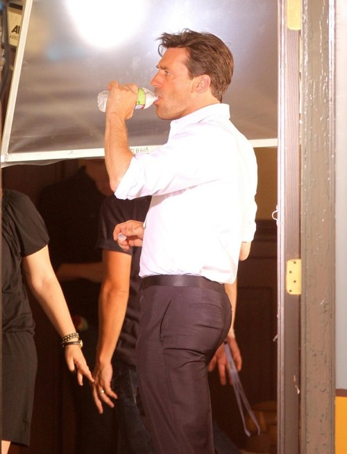 Jon Hamm got back. He should get back to my apartment as quickly as possible
