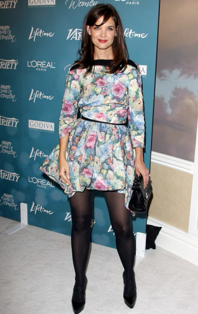 Katie Holmes floral nightmare