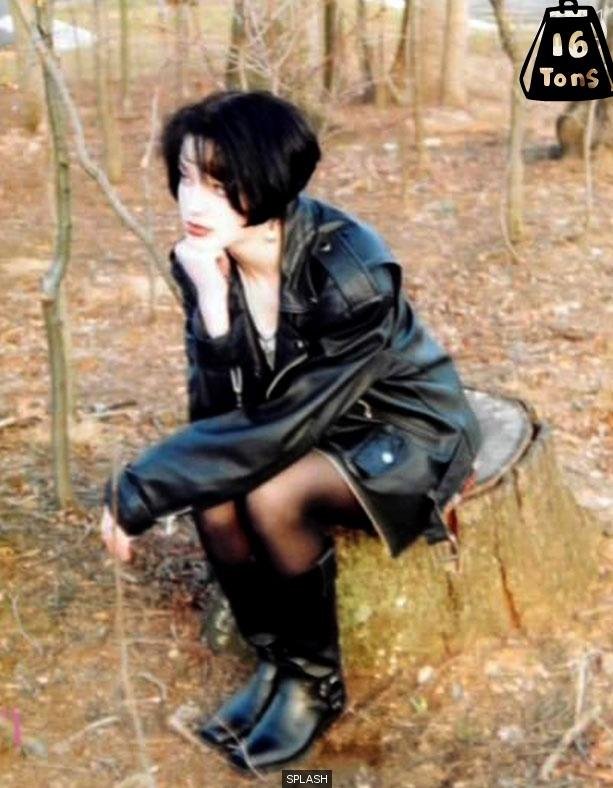 mystery goth girl