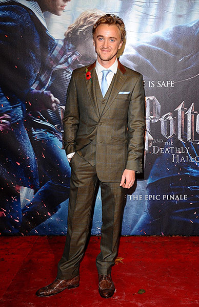 Tom Felton cleans up good