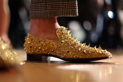 "This Louboutin demonstrates what men think of as ""spikes"""