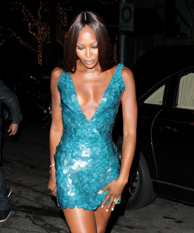 Naomi Campbell has had to become adept at where she hides her cellphone