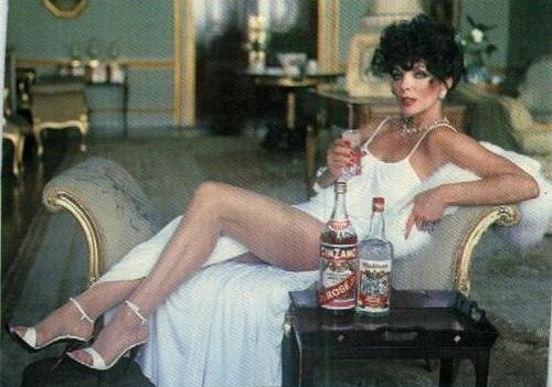 Joan Collins will drink as much Cinzano as she pleases and she'll thank you to mind your own business