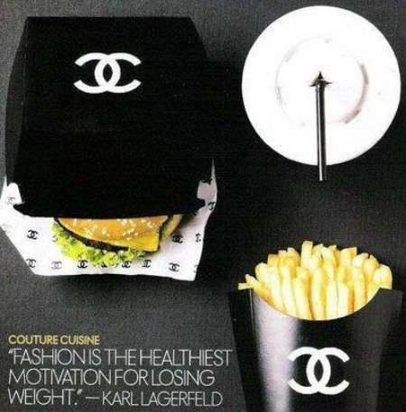 Karl Lagerfeld has some funny priorities