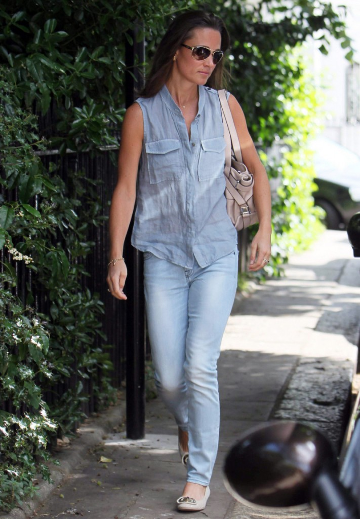 Pippa Middleton in her Canadian Tuxedo