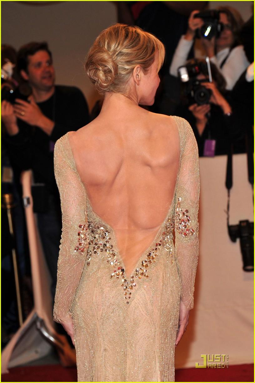 Renee Zellweger's back