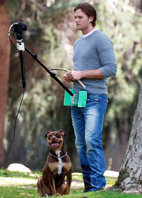 Tom Brady's crotch cam has even his dog laughing at him