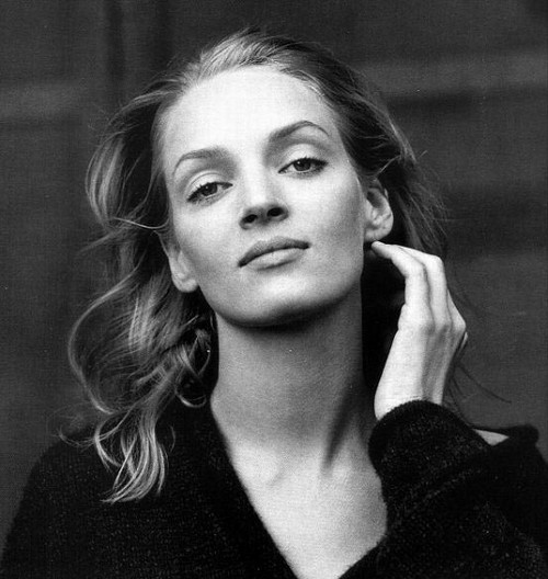 Uma Thurman has a slightly different choice of wardrobe it must be admitted
