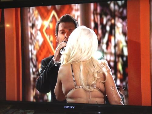 Christina Aguilera's back