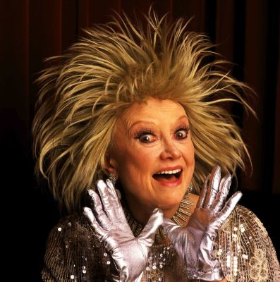 Phyllis Diller's hair raising situation