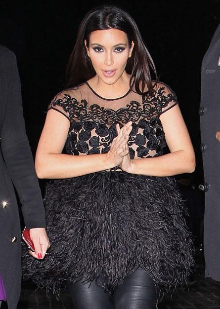 Kim Kardashian Ostrich