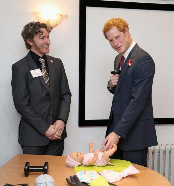 Prince Harry and the nappies