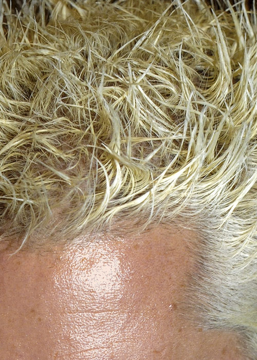 Guy Fieri's actual hair. Not an aerial photo of Hurricane Sandy.