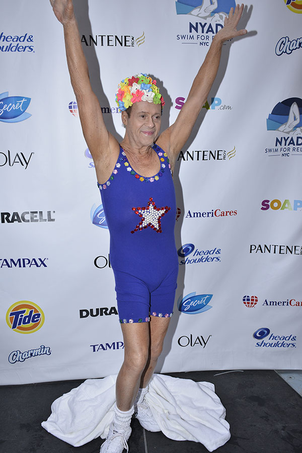 Richard Simmons in the swim
