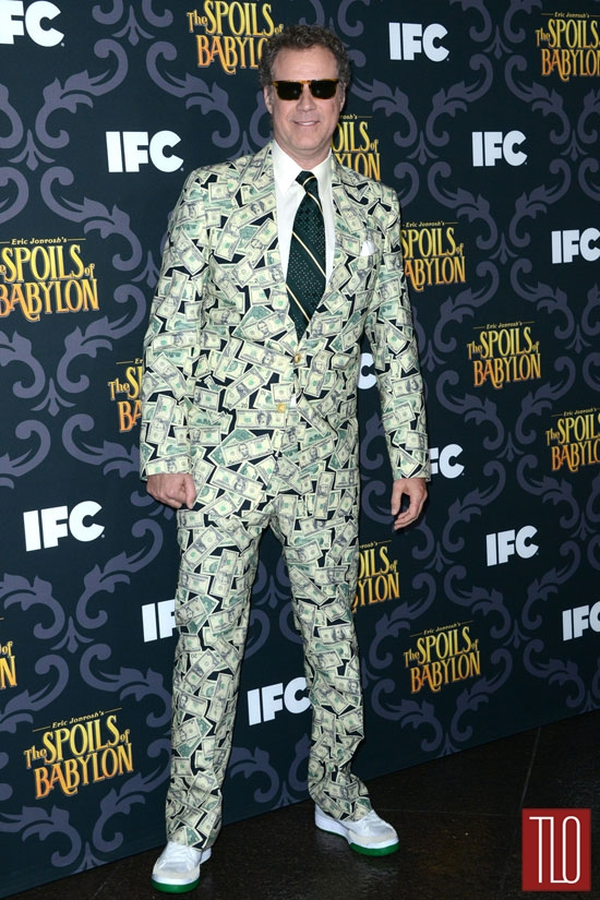 Will Ferrel wears the spoils